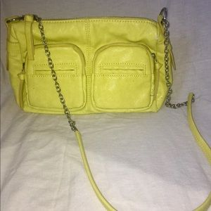 Yellow Faux Leather CrossBody